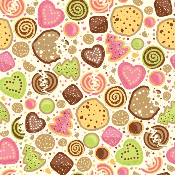 GraphicRiver Cookies Pattern 10577569