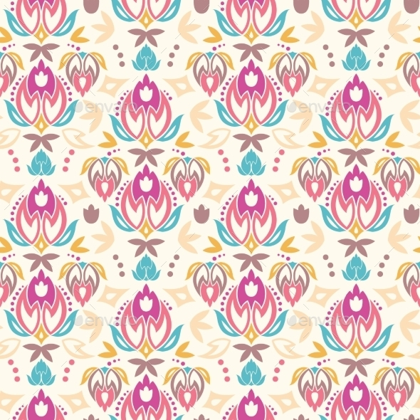 GraphicRiver Tulip Pattern 10577874