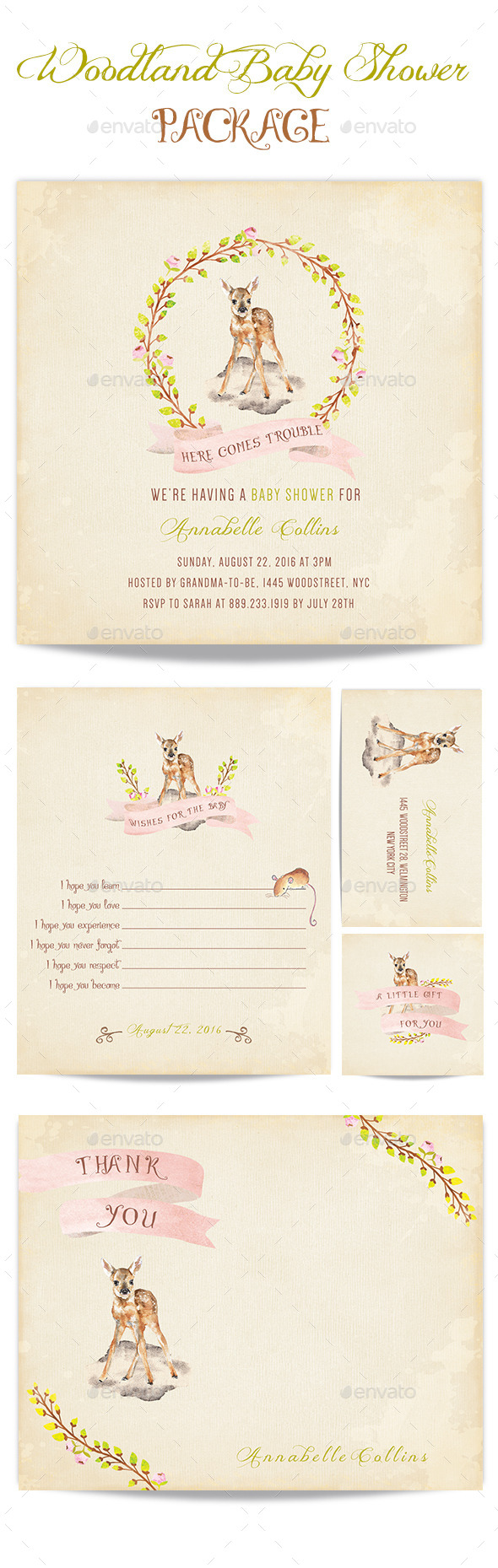GraphicRiver Baby Shower Invitation Card 10577957