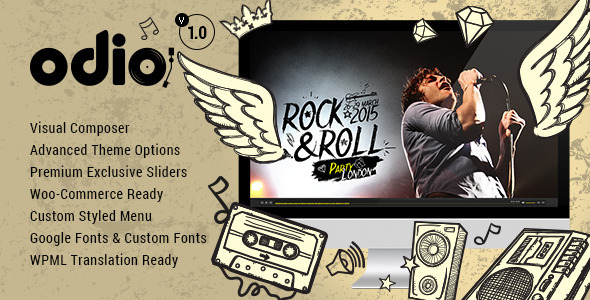ThemeForest Odio Music WP Theme For Bands Clubs and Musicians 10523423