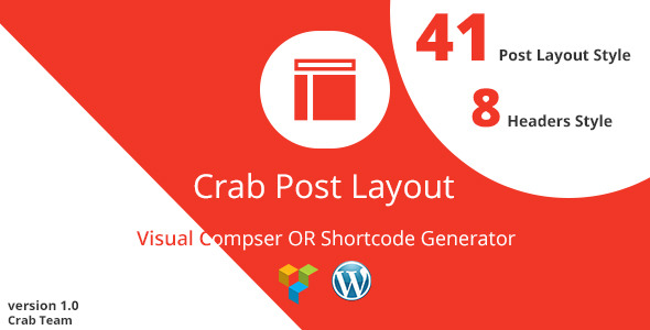 CodeCanyon Crab Post Layout VC Or Shortcode Generator 10578317