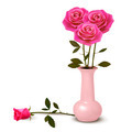 Holiday background with pink roses in a vase. - PhotoDune Item for Sale