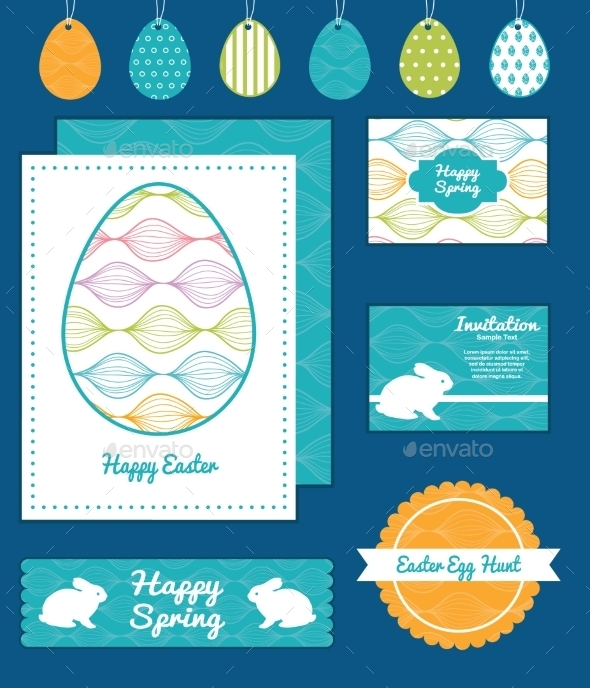 GraphicRiver Easter Element Set 10578458