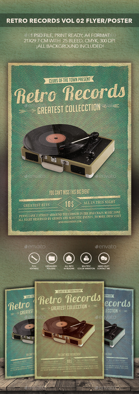 GraphicRiver Retro Records Flyer Poster vol 02 10578521