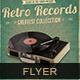 Retro Records Flyer/Poster vol 02 - GraphicRiver Item for Sale