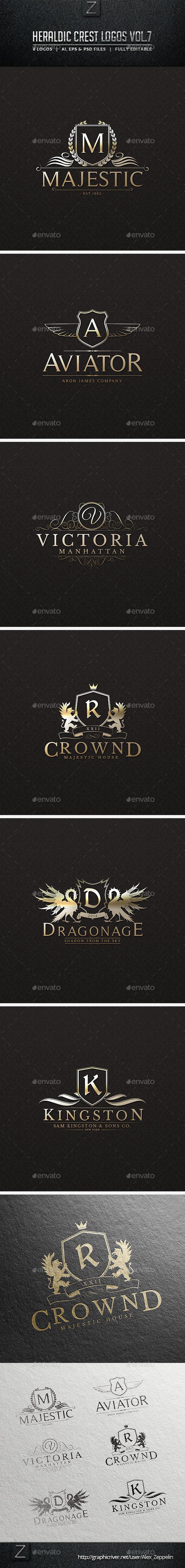 GraphicRiver Heraldic Crest Logos Vol.7 10578758