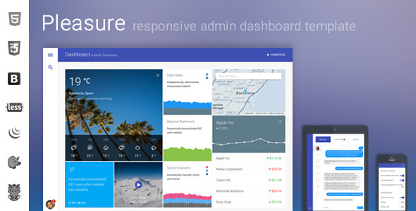 ThemeForest Pleasure Responsive Admin Dashboard 10579013