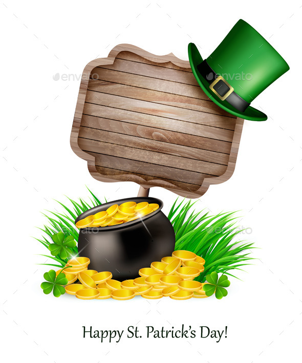 GraphicRiver Saint Patrick Day Background with a Sign 10579170