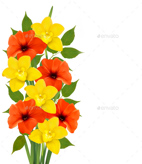 GraphicRiver Background with Colorful Flowers 10579175
