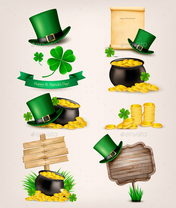 GraphicRiver Set of St Patrick s Day Related Icons 10579186