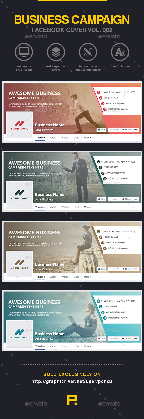 GraphicRiver Business Campaign Facebook Cover Vol 002 10579430