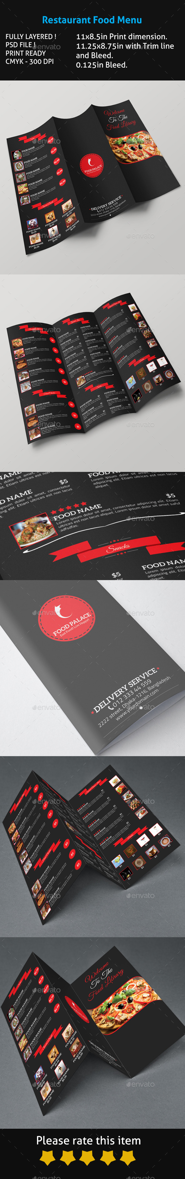 GraphicRiver Restaurant Food Menu 10579983