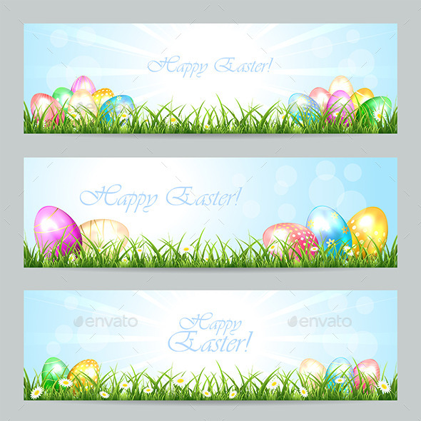 GraphicRiver Easter Cards 10580029