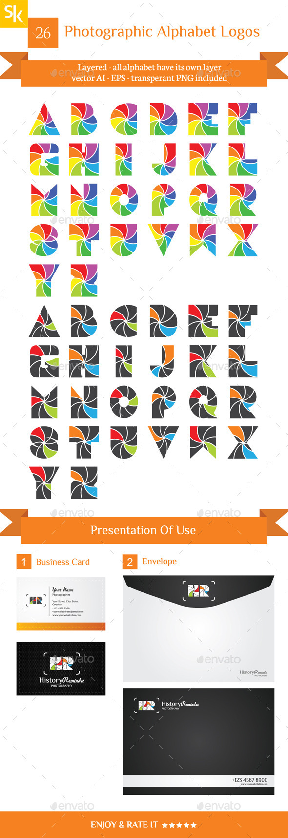 GraphicRiver Photographic Alphabet Logos 10575562