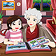 Grandma and Granddaughter Viewing Photo Album - GraphicRiver Item for Sale
