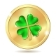 Golden Coin with Clover - GraphicRiver Item for Sale