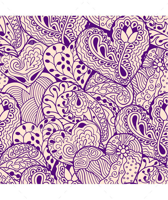 GraphicRiver Violet Heart Seamless Pattern 10580135