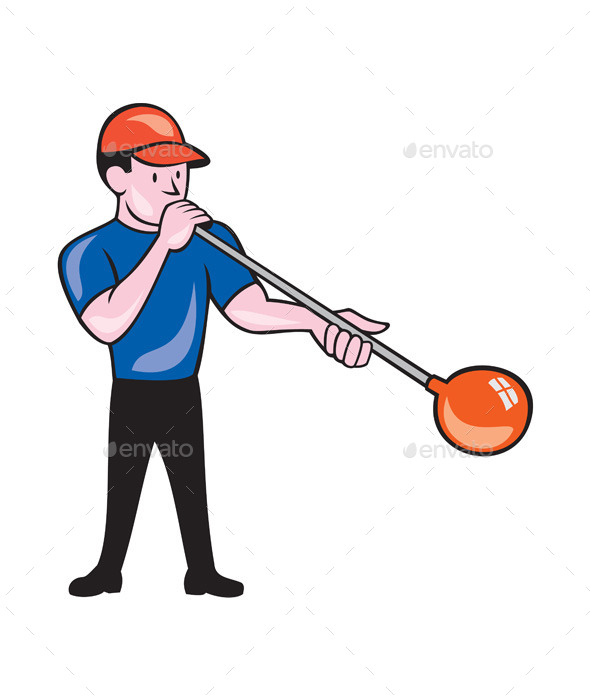 GraphicRiver Glassblower Glassblowing Isolated Cartoon 10580273
