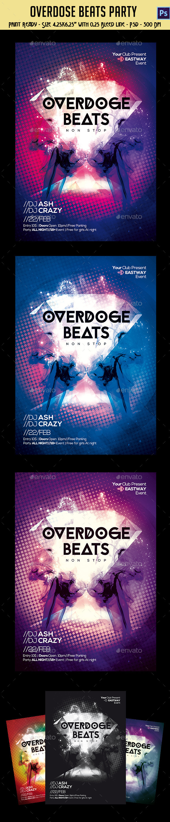 GraphicRiver Overdose Beats Party Template 10580622