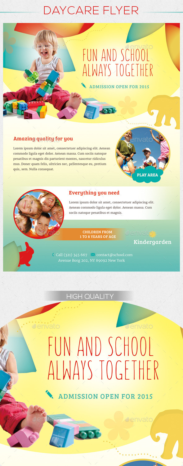GraphicRiver Children Daycare Flyer 10580624