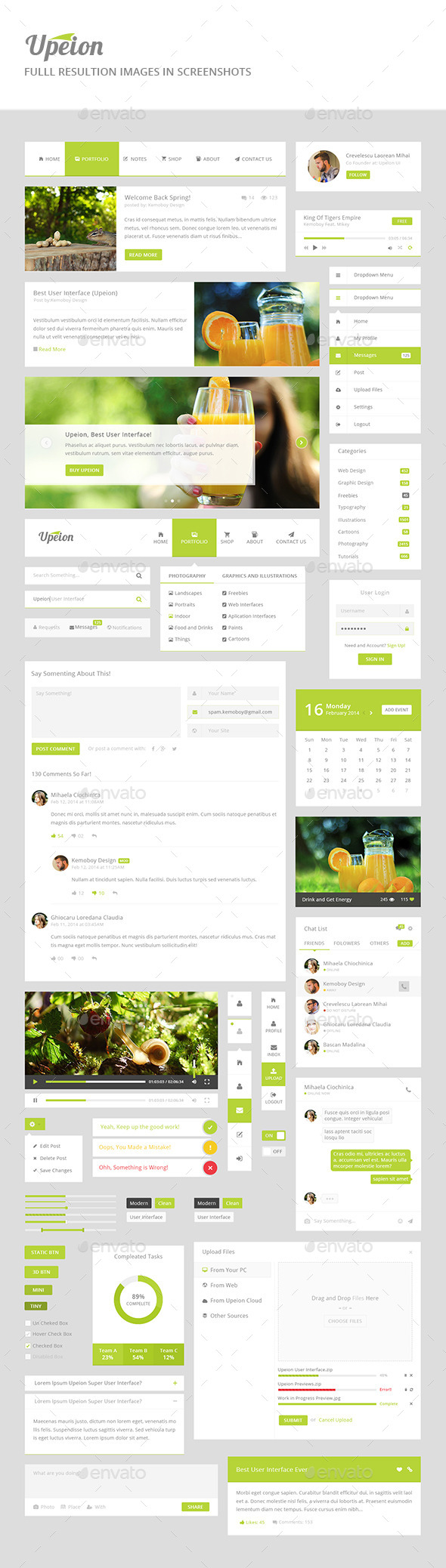 GraphicRiver Upeion UI Modern and Fresh UI 10580656
