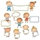 Kids with Blank Signs - GraphicRiver Item for Sale
