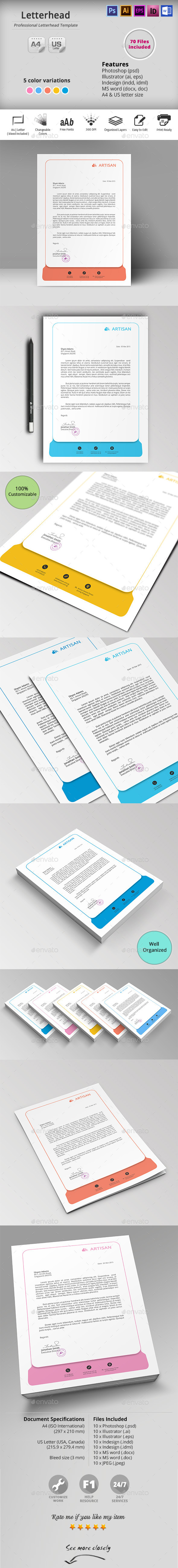 GraphicRiver Letterhead 10581000