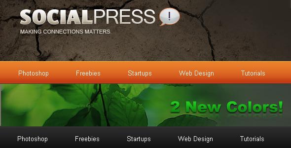 SocialPress - HTML Theme - Theme Preview Image