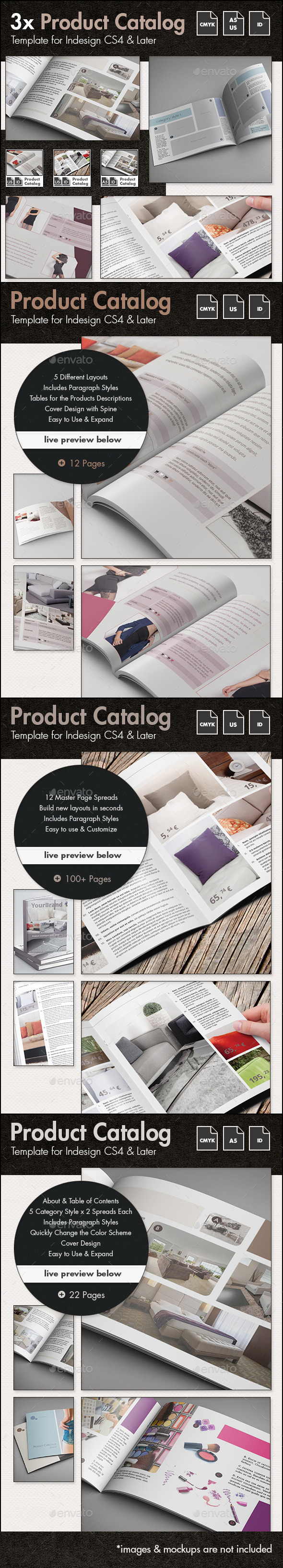 GraphicRiver Product Catalog Template Bundle US Letter and A5 10581051