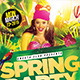 Spring Party Flyer Template - GraphicRiver Item for Sale