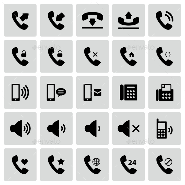 GraphicRiver Set of Telephone Icons 10581063