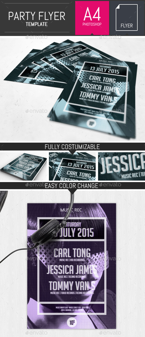 GraphicRiver Minimal Party Flyer Poster Template 10581169