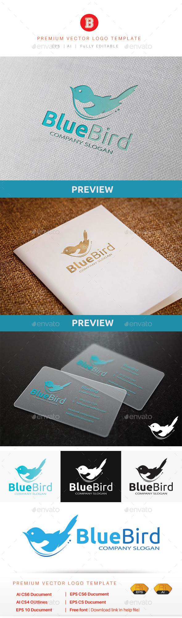 GraphicRiver Blue Bird 10581211