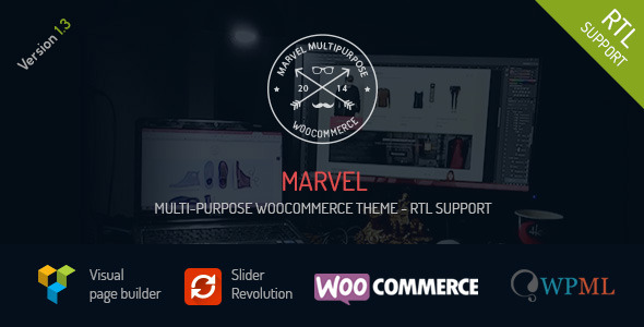 Marvel - Multi Purpose WooCommerce Theme + RTL