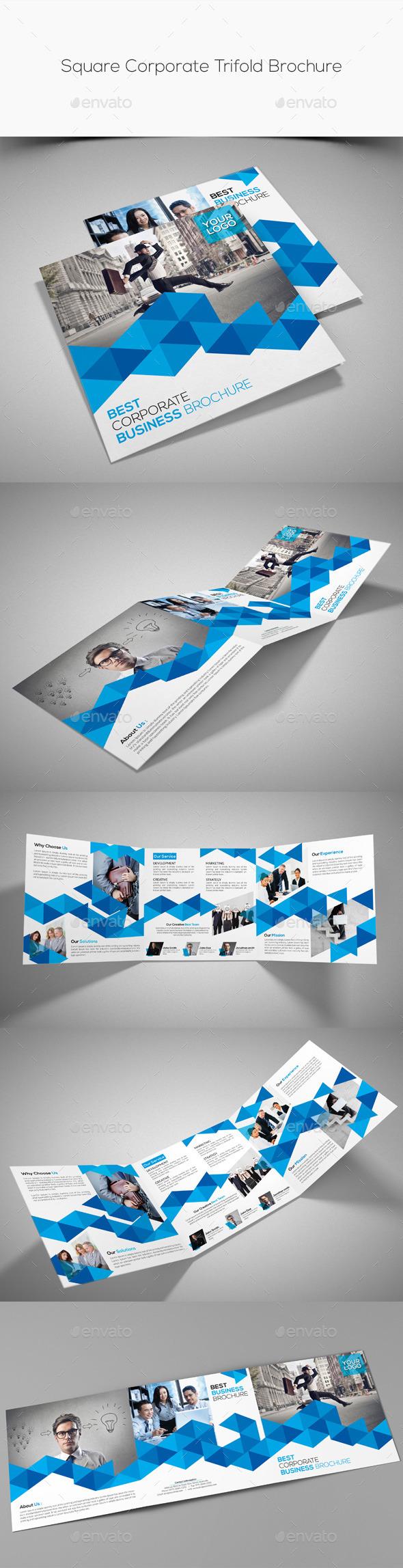 GraphicRiver Square Corporate Trifold Brochure 10581440