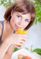 Beautiful woman drinking juice - PhotoDune Item for Sale