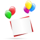 Festive Paper Sheets Hang on Balloons - GraphicRiver Item for Sale