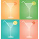 Empty Martini Glasses with Citrus - GraphicRiver Item for Sale
