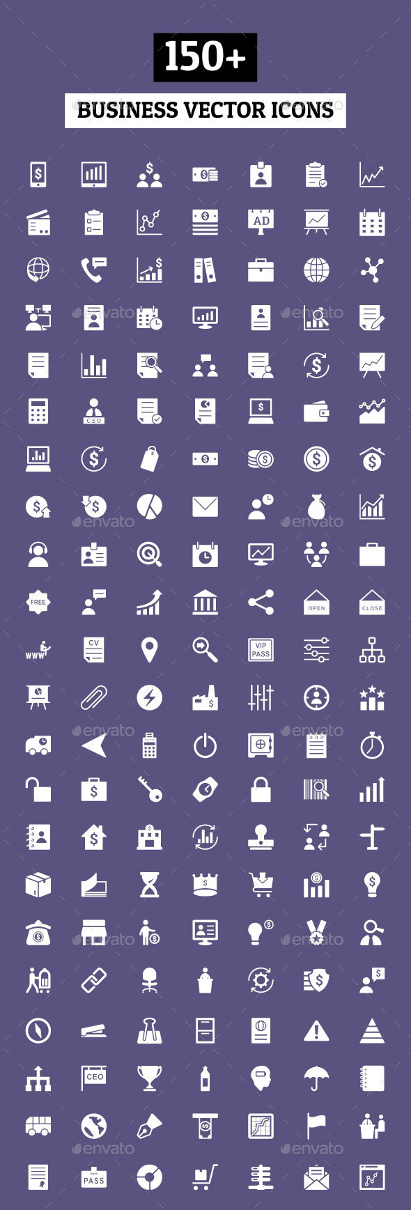 GraphicRiver 150& Business Vector Icons 10582069