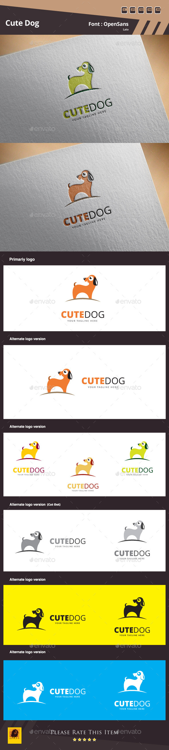 GraphicRiver Cute Dog Logo Template 10582156