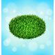 Green Grass Oval on Sky Background - GraphicRiver Item for Sale