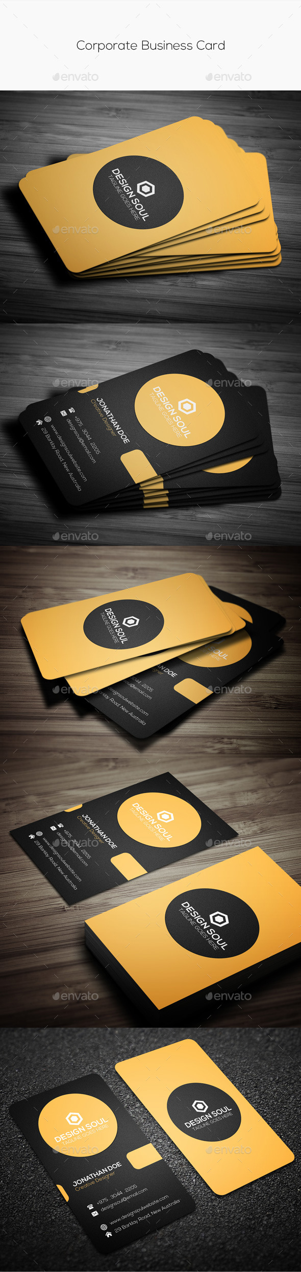 GraphicRiver Corporate Business Card 10582257