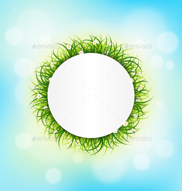 GraphicRiver Circle Frame with Green Grass 10582271