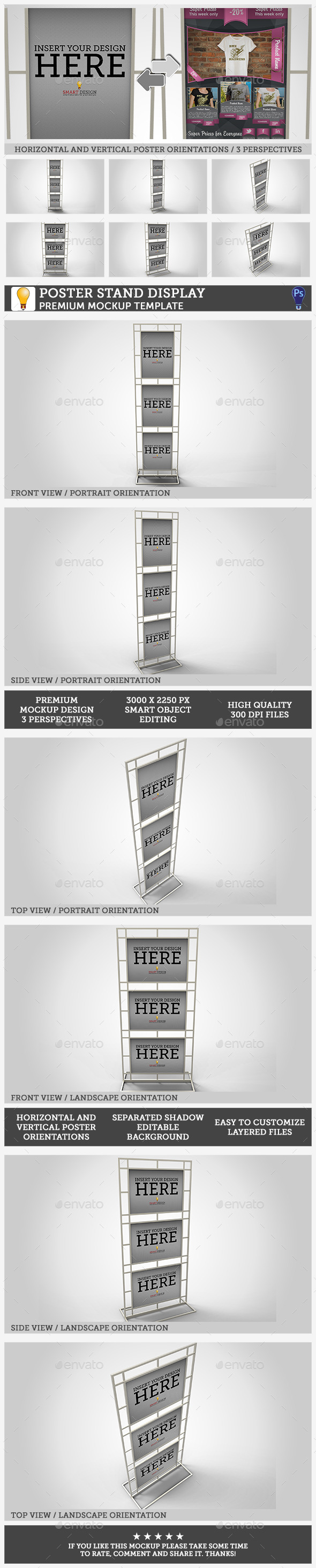 GraphicRiver Poster Stand Display Mockup 10582305