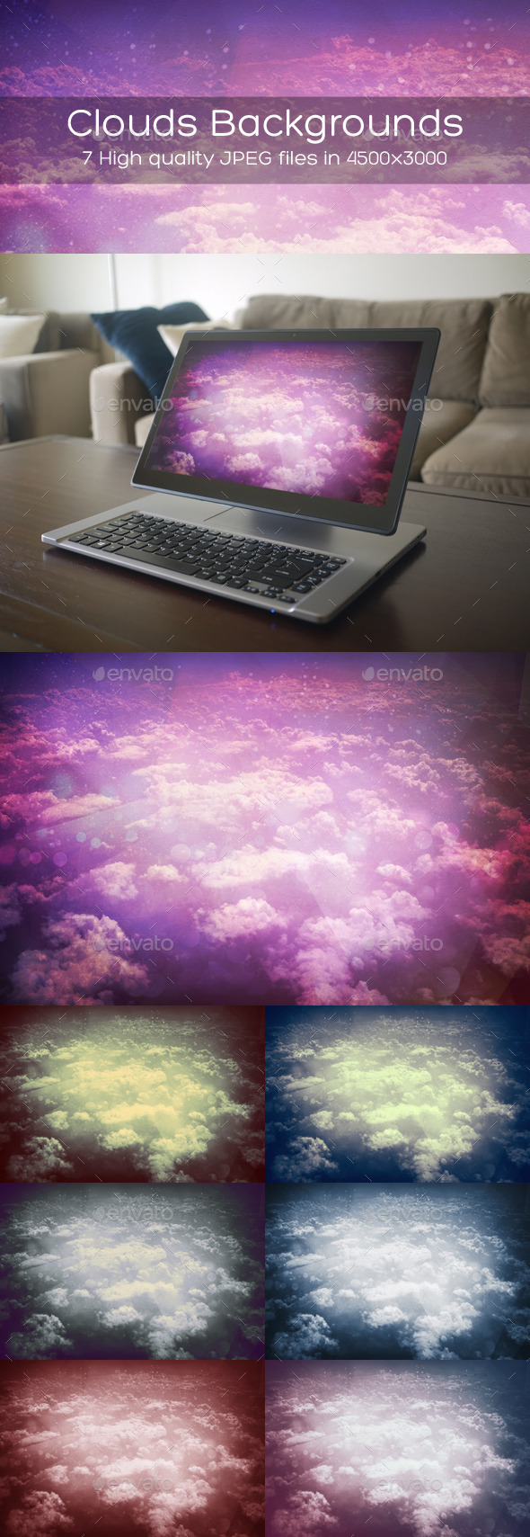 GraphicRiver Sky Clouds Backgrounds 10582353
