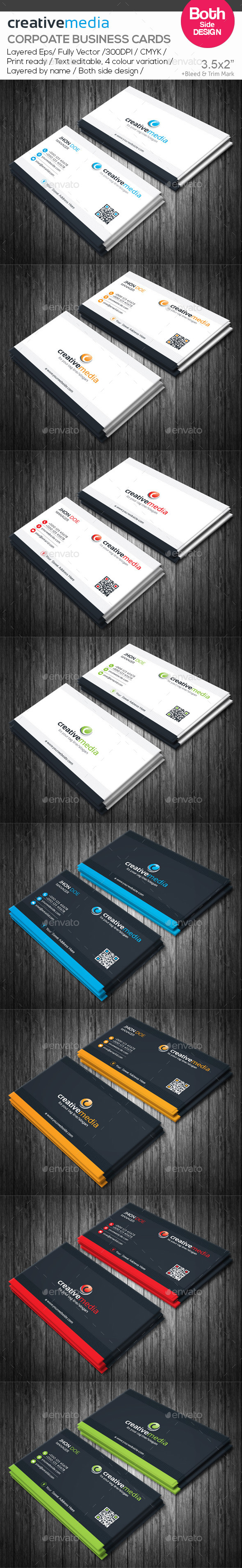 GraphicRiver creative media Corporate Business Cards 10582369