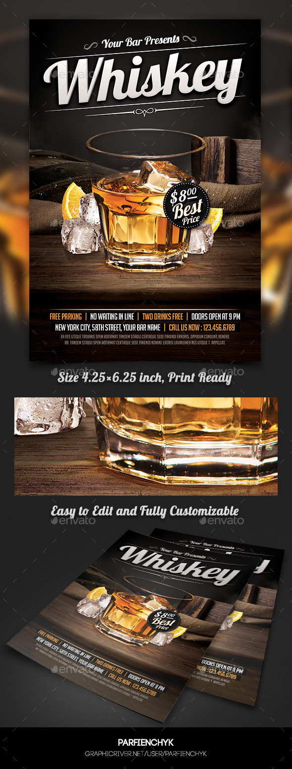 GraphicRiver Whiskey Party Flyer Template 10582382