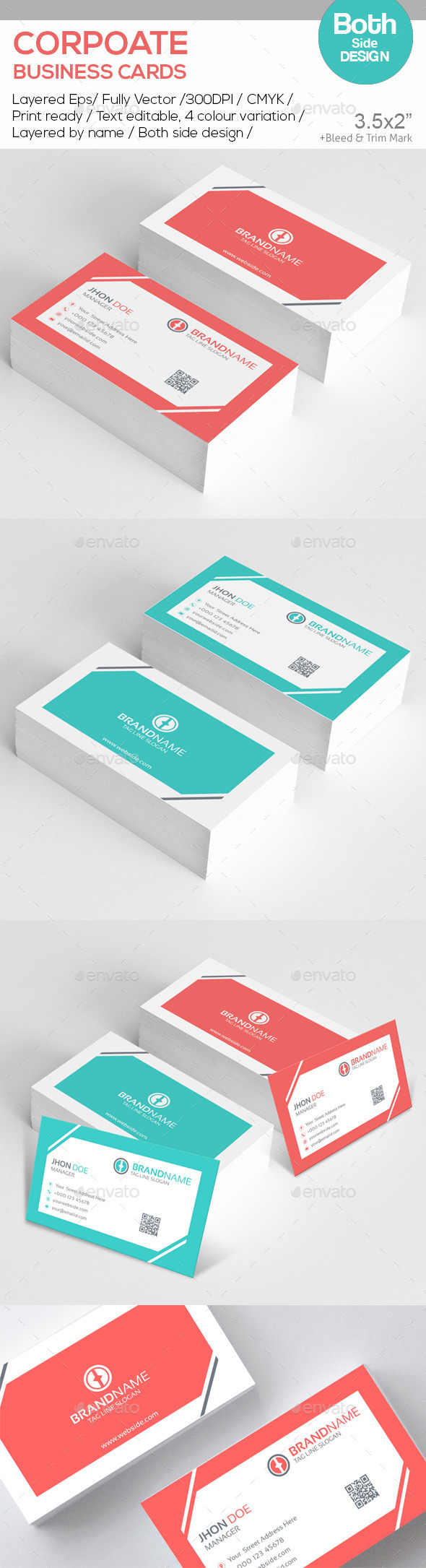 GraphicRiver BRAND NAME Corporate Business Cards 10582383
