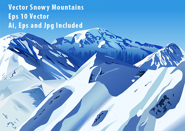 GraphicRiver Snowy Mountains 10582385