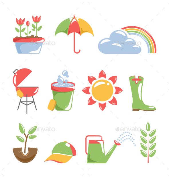 GraphicRiver Spring Icons 10582403
